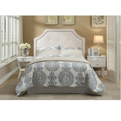 Cheap King Size Headboard White Bed