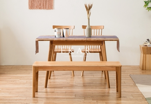 Modern Setting Rectangle Extension Dining Table