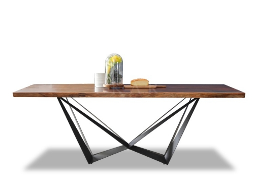 Small Wood Rectangle Wooden Dining Table Set
