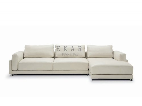 Italian Leather Sofa Cream Couch Set