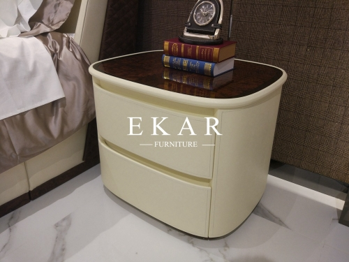 Hot sale faux leather bedside table