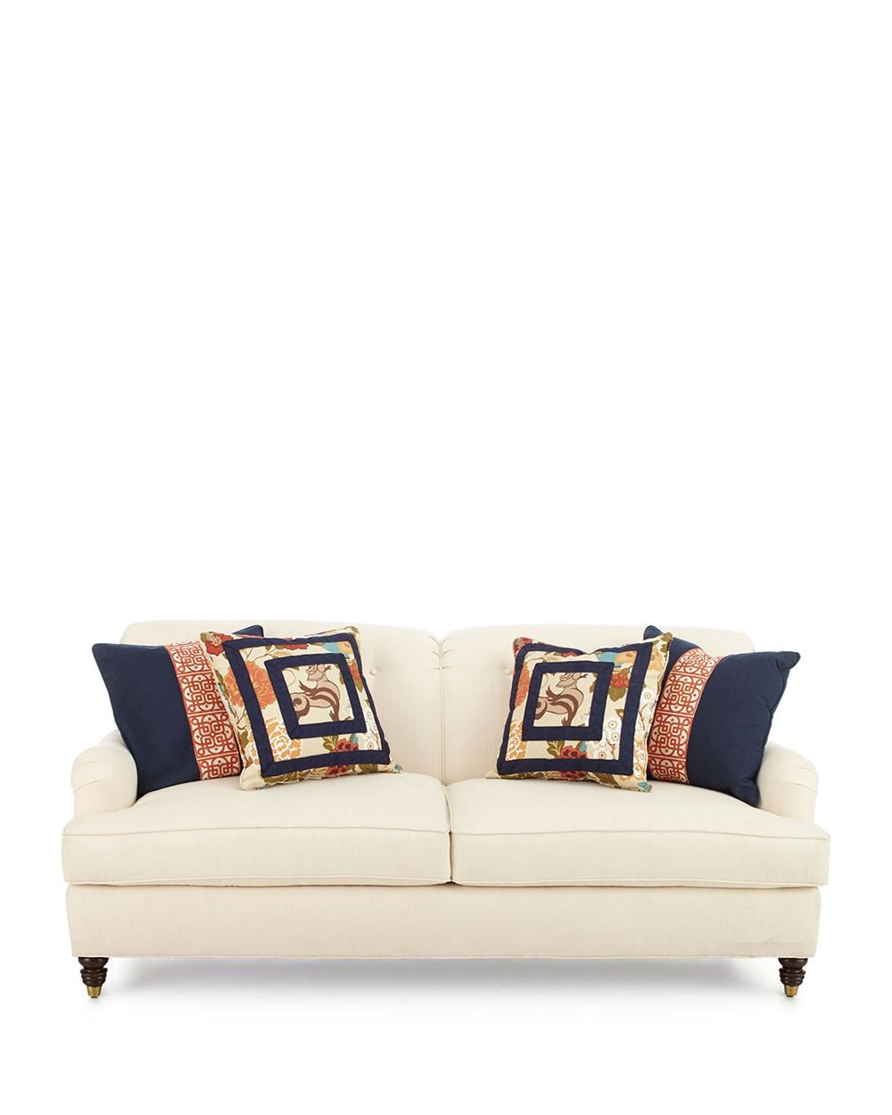 Comfy Small Cream Loveseat Sofa Price Ekar Furniture