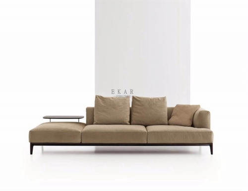 Fashion Khaki Furniture Sofa Wide Couch For Sale