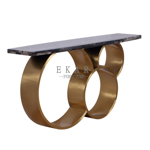 Modern Marble Top Console Table