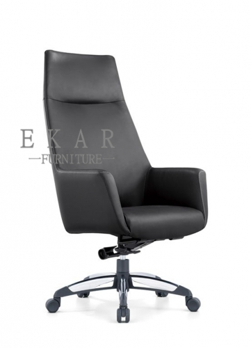 Foshan Heated 5 Wheels Armrest Leather Office Chair