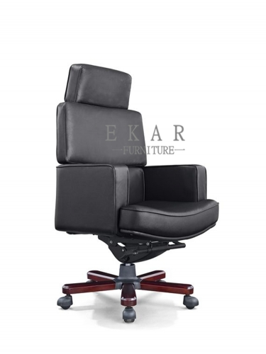 Super Comfortable Luxury Genuine Leather Boss Ergonomic Office Chair