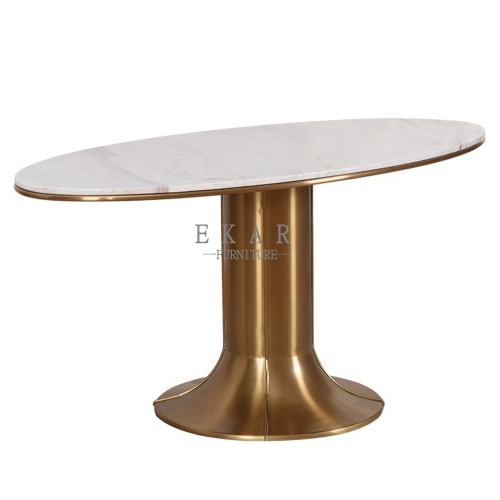 Small Round Metal Trestle Dining Table