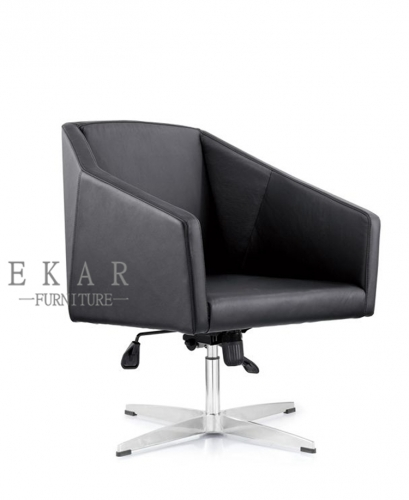 Contemporary Aluminium Alloy Base Black Lift Meeting Room Chair