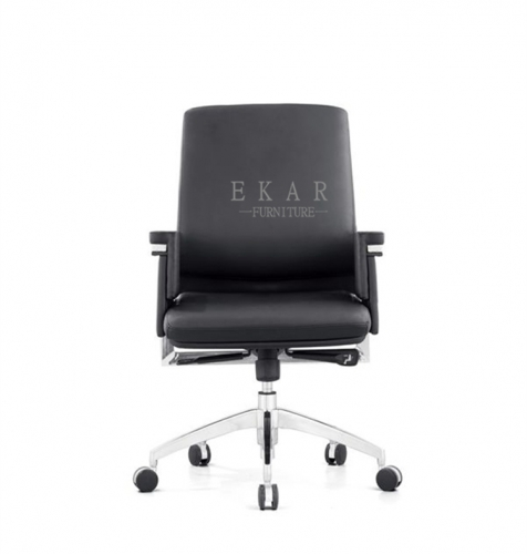 Italian Leather Executive Wheel Base Rotating Office Chair