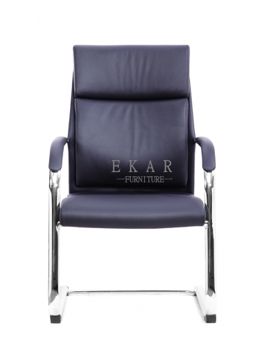 Office Furniture Dark Blue Leather Modern Office Chair