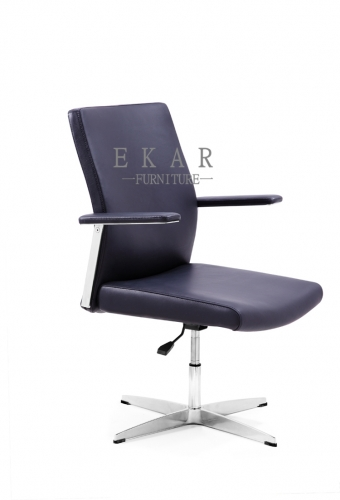 Dark Blue Low Back Four Leg Office Chair