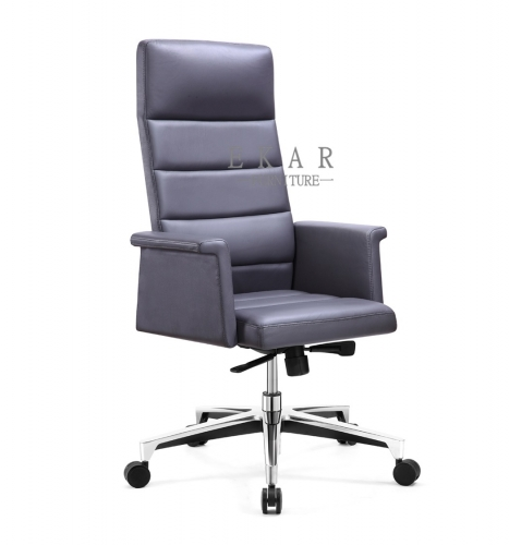 Factory Direct Leather Wheel Manager Office Chair
