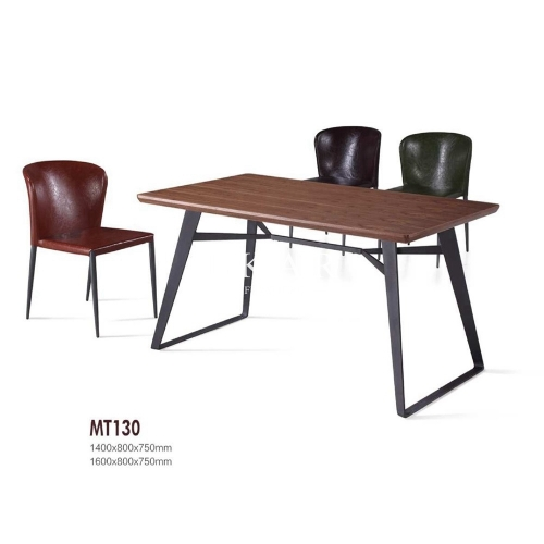 Modern Wooden Casual Set Rectangle Dining Table