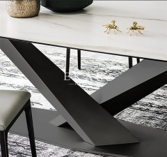 European Style Rectangle Marble Dining Table
