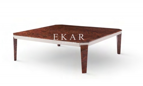 Square Simple Design Wooden Modern Coffee Table