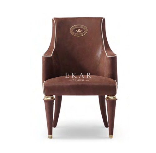 Leather Contemporary Upholstered Dining Room Chair