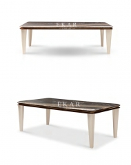 Rectangle 8 Seater Marble Top Dining Table