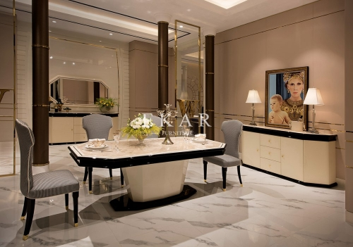 Room Furniture Modern Glass Dining Table