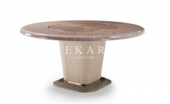 Metal Base Round Modern Luxury Dining Table