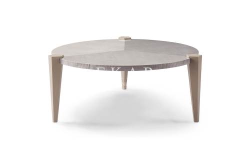 Contemporary Living Room Table 3 Leg Round Wood Coffee Table