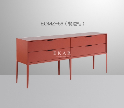 Colorful Modern Sideboard With 4 Drawer