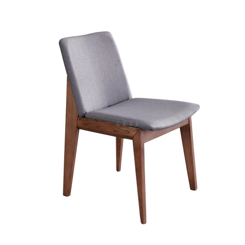 Modern Fabric Solid Ash Wood Dining Room Chair