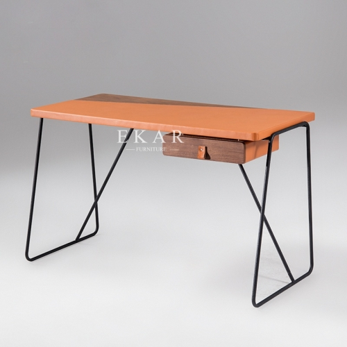 Italian Design Metal Base Simple Modern Study Desk