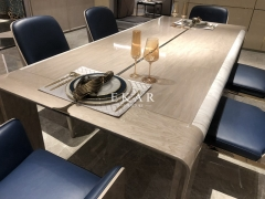 High Gloss 6 Seater Dining Room Modern Dining Table
