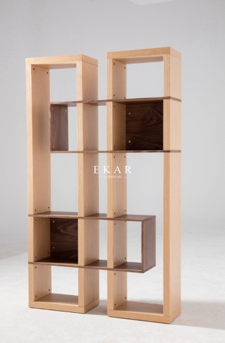Oak Wood Modern Style Home Office Book Shelf Bookcase