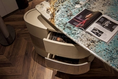 2019 New Marble Top High Gloss Home Office Table