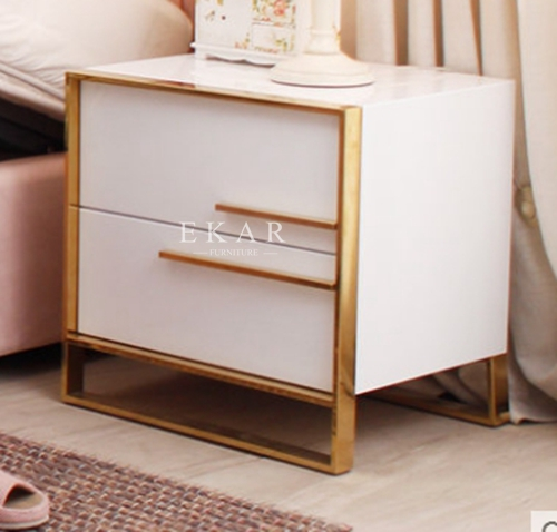 Modern Design Metal Bedroom Nightstand