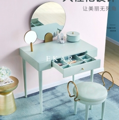 Contemporary Nordic Style Solid Wood Makeup Dressing Table