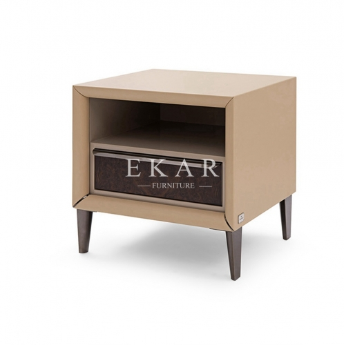 High Class Leather Bedroom Nightstand