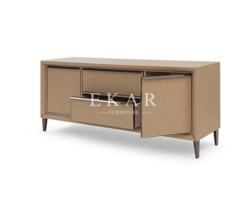Modern Leather Elegant Style TV Stand