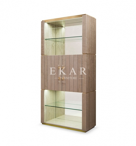 High Class Modern Deluxe High Gloss Glass Cabinet
