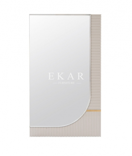 White Elegant Entrance Way Wall Mirror